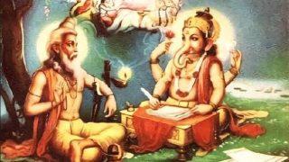 Ganapati Writes Mahabharata