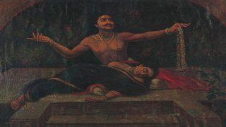 king aja and indumati by Ravi Varma