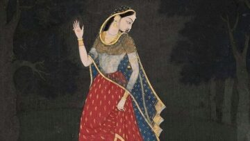 The Personification Of Ashtanayikas Based On The Sringara Rasa Depicted In The Ragamala Paintings